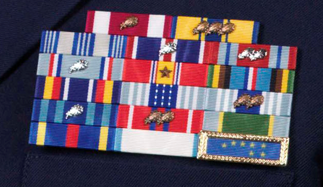 Alaska National Guard ribbon rack