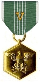 army commendation medal with v device