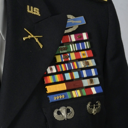 Michigan ARNG ribbon rack