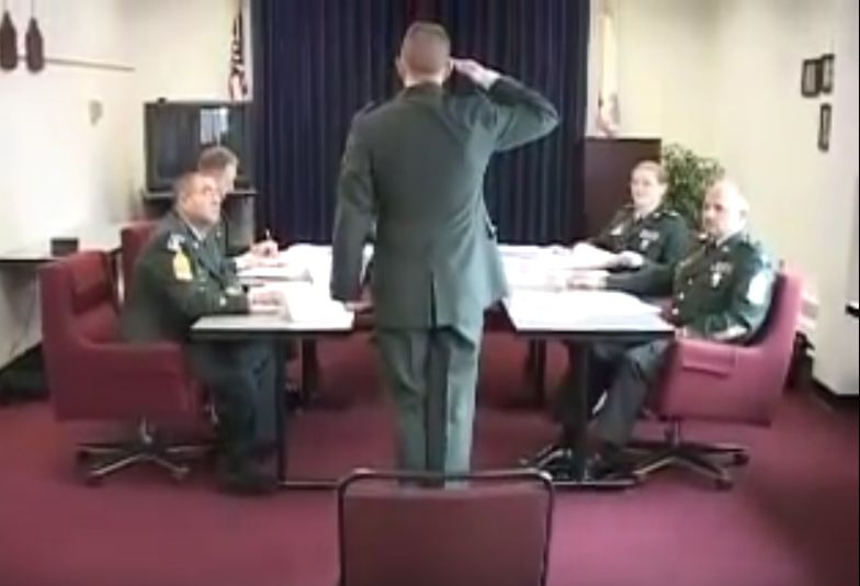 Picture of Soldier Meeting Promotion Board