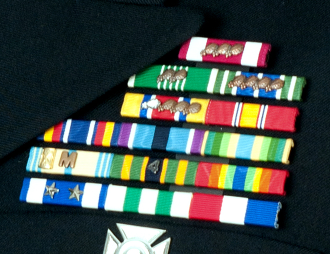 South Carolina ARNG ribbon rack