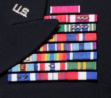South Carolina Army National Guard ribbon rack