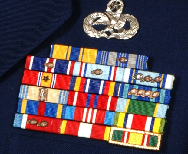 Tennessee National Guard ribbon rack