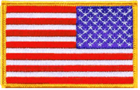 U.S. flag patch